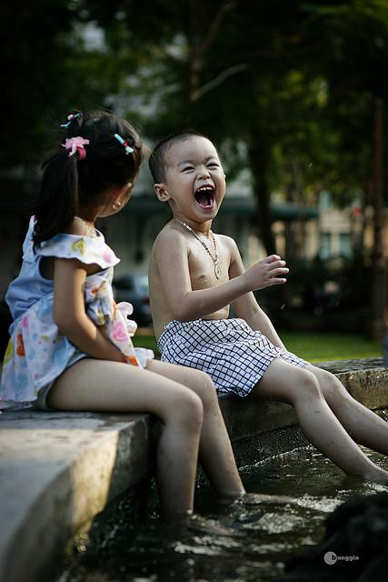 Sonrisa niños Vietnamitas