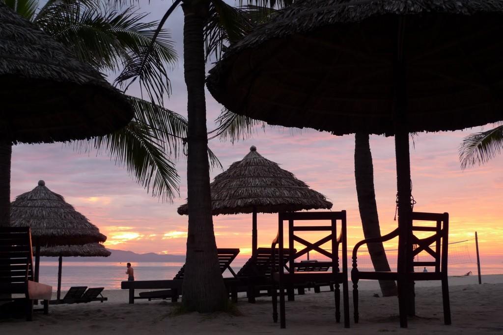 Hoian playa, Vietnam