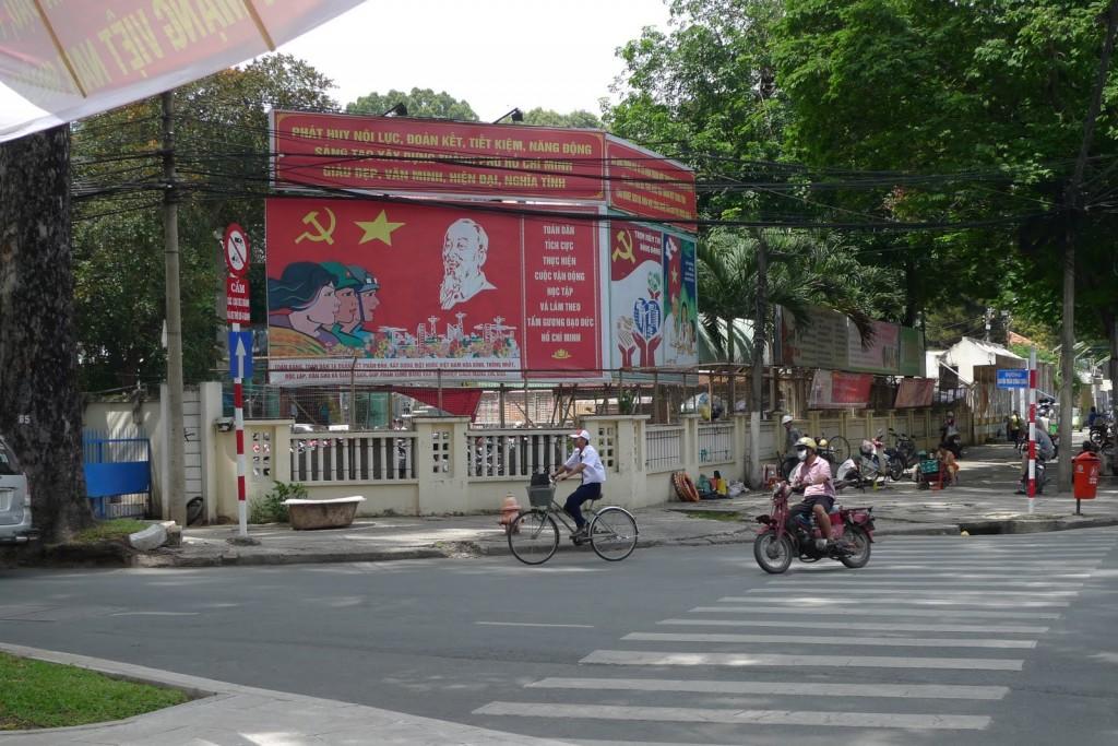 Símbolos comunistas en Saigon, Ho Chi Minh, Vietnam