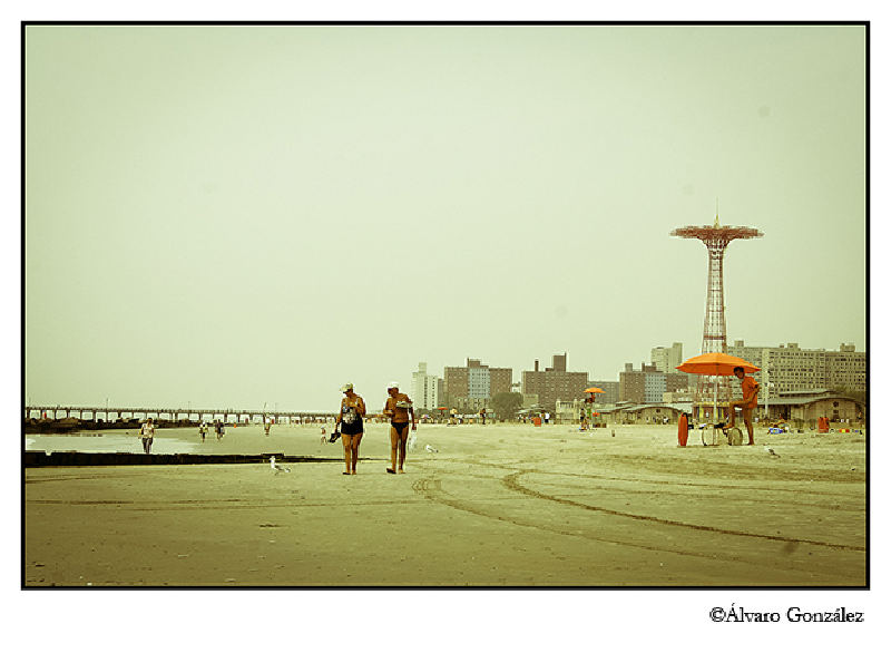 La playa de Coney Island, New York