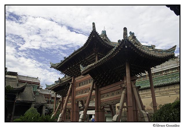 Detalle de Pagoda en Xian, China