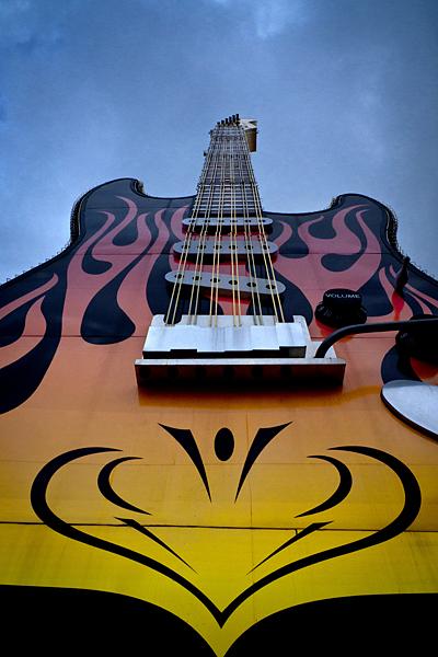 Guitarra, Estudios Universal, Universal Studios, California, Los Ángeles
