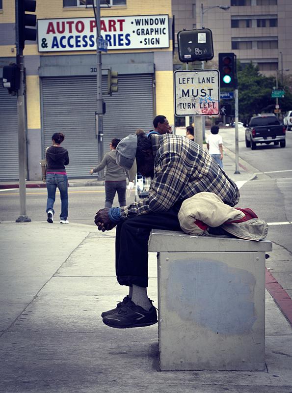 Mendicidad en Los Ángeles, California