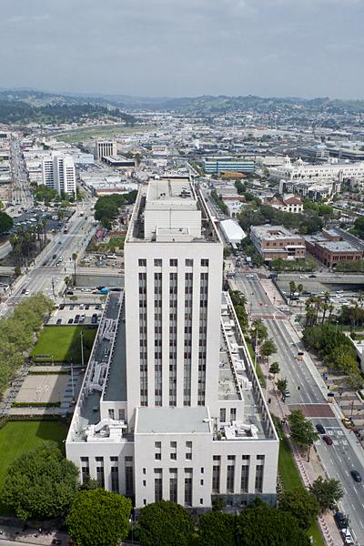 Vistas desde el ayuntamiento de Los Ángeles, California