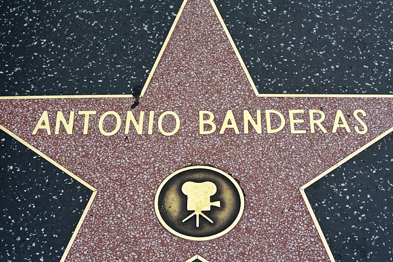 Estrella de Antonio Banderas, Hollywood Blvd, Los Ángeles, California