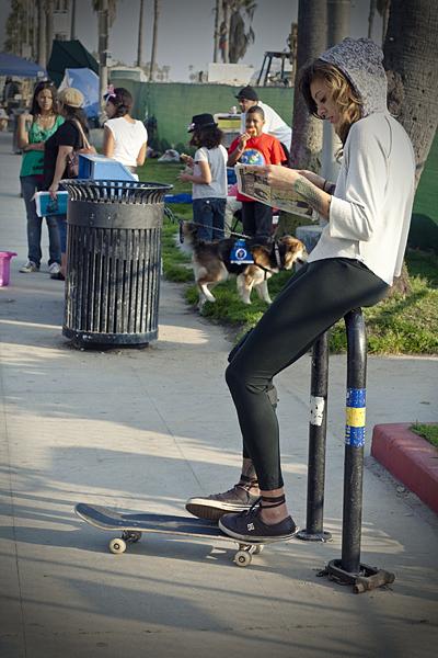 Skaters en Santa Monica