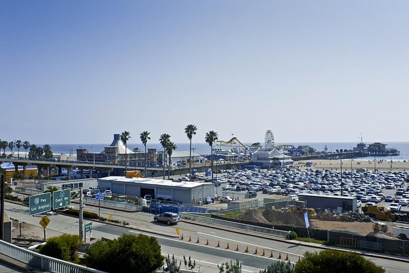 Santa Mónica Beach en Los Angeles, california