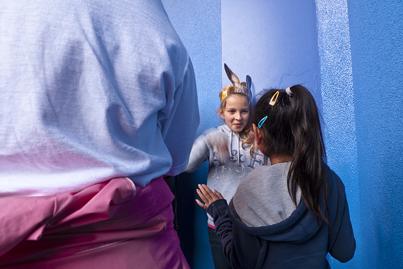 Niños jugando en Studios Universal, los angeles, california