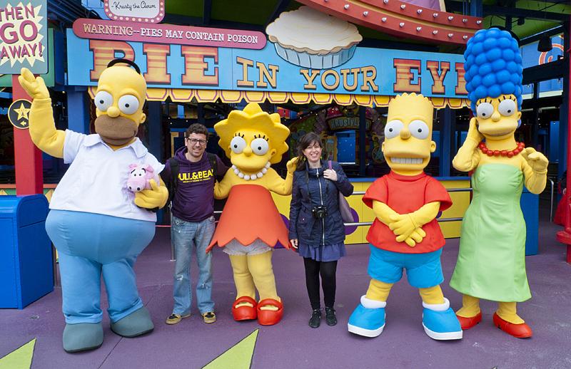 Los simpsons en Universal Studios