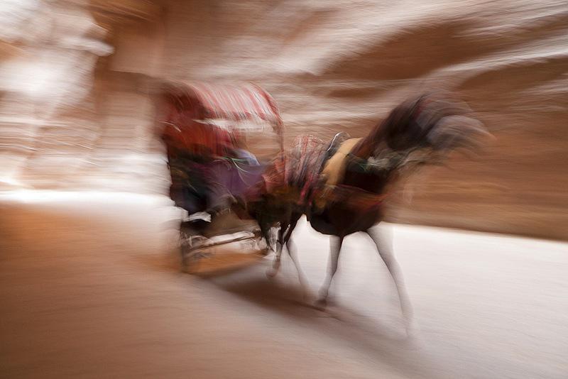 Carreta caballos, Petra