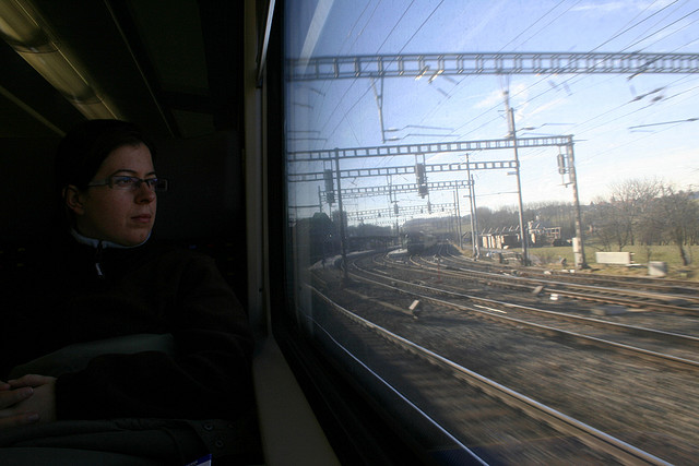 tren, ferrocarril, pasajero, tren
