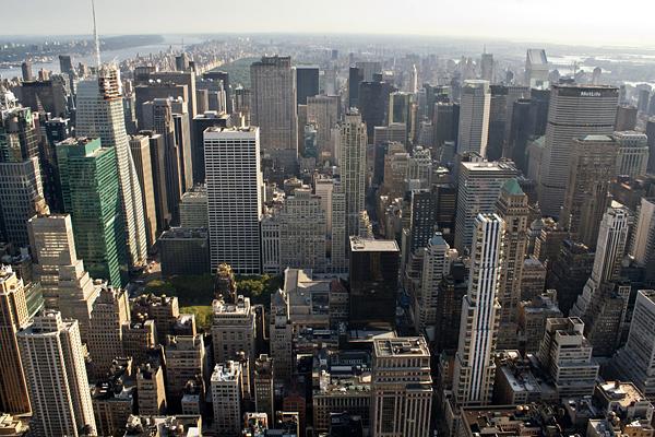 Conjunto de rascacielos en Manhattan
