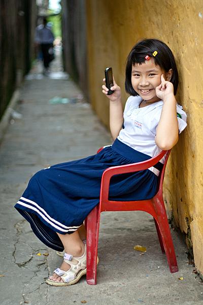 Niña en Hoi An, Vietnam