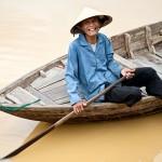 Pescador en Hoi An, Vietnam