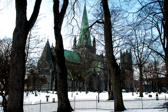 Catedral de Nidarios en Trondheim Noruega