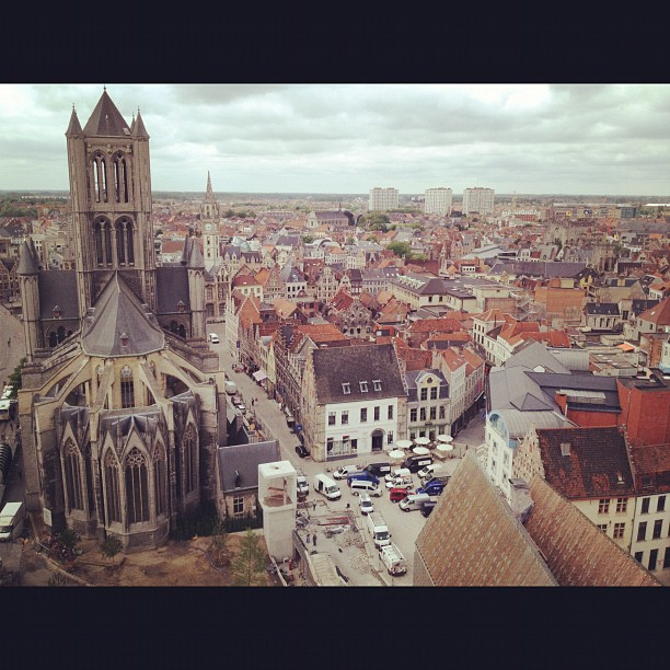 Ciudad de Gante en Flandes, Bélgica