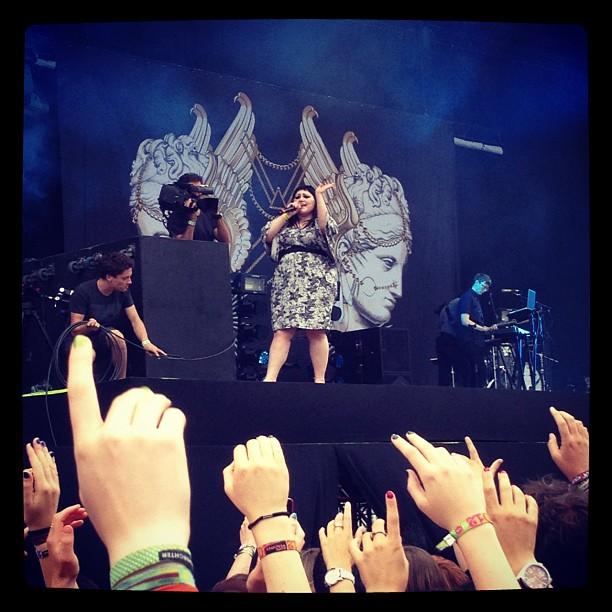 Actuación de Gossip en el festival Rock Werchter de Flandes, Bélgica