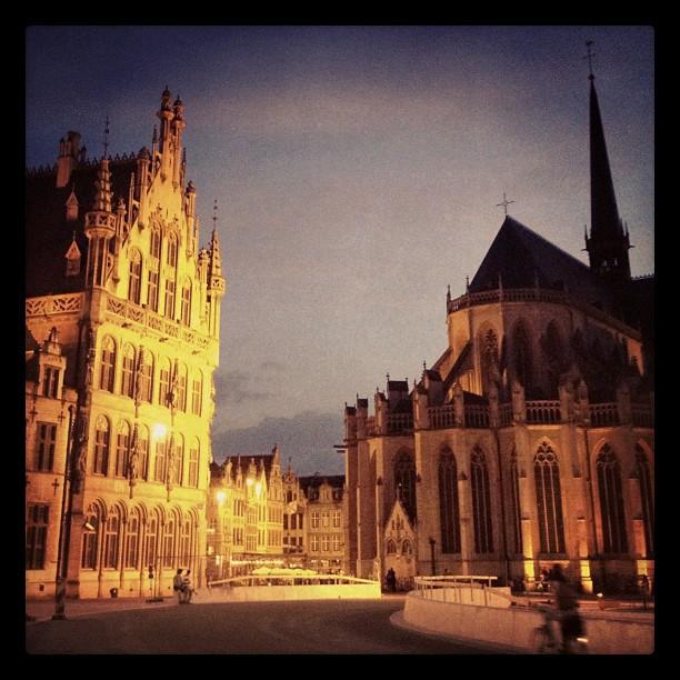Plaza central de Lovaina, Bélgica