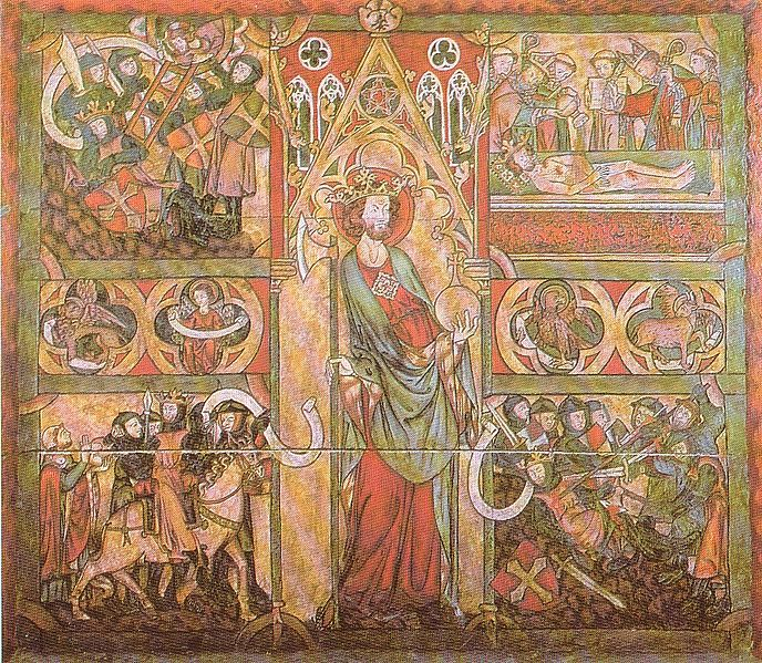 El rey Olaf II el Santo en la catedral de Nidaros, Trondheim