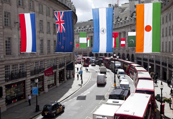 Regent Street en Londres 2012