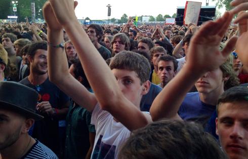 Público en el festival Rock Werchter de Bélgica