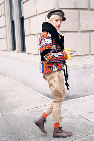 Modelo fotografiado por Bill Cunningham para New York Times