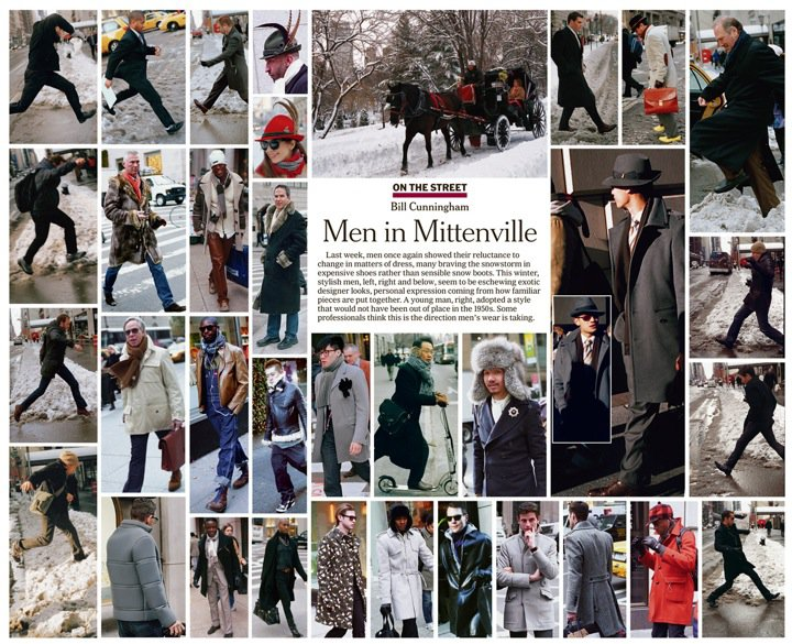 Página de la sección On The Street de Bill Cunningham en el New York Times