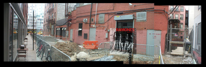 Vista de atrás del CBGB'S de New York