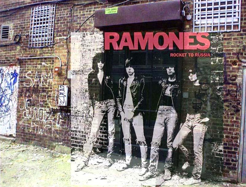 """El lugar donde se hizo la foto de los Ramones """"Rocket to Russia"""""""