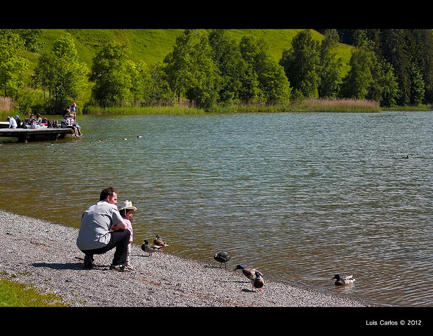 Destino ideal para familias, el lago Negro Schwarzsee de Suiza