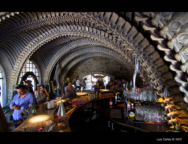 Bar HR Giger en Gruyeres, Suiza