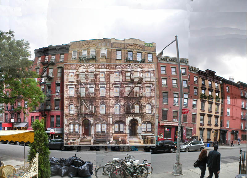 Edificio original del disco Physical Graffiti de Led Zeppelin