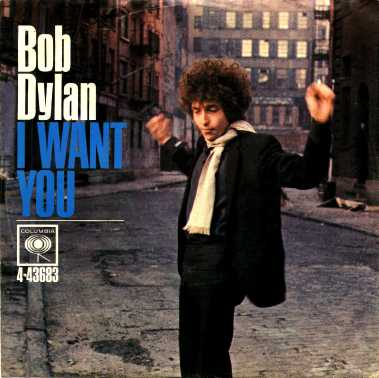 Portada del single I want you de Bob Dylan