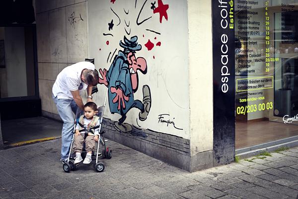 Cómic en las calles de Bruselas