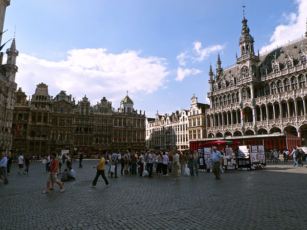 Vista de la Grand Place, Bruselas