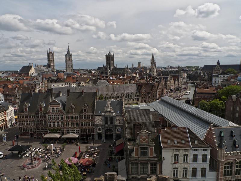 Vistas de Gante, Flandes, Bélgica.
