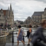 Puente de San Miguel en Gante, Flandes, Bélgica