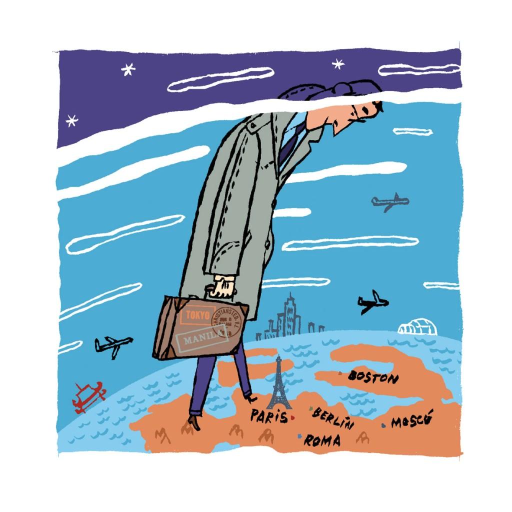 Ilustración Blog de Viajes