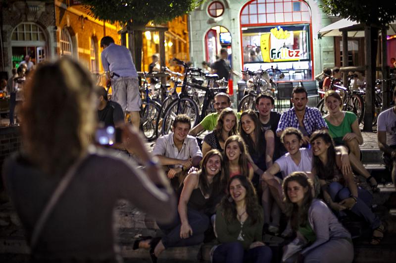 Jóvenes en Lovaina, Bélgica