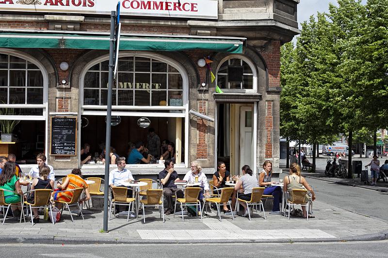 Terraza en Lovaina, Bélgica