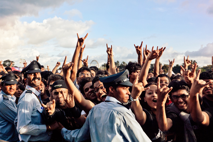 Fans del Rock en India, Festival Palace Grounds en Bangalore