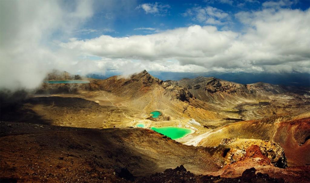 Lago Esmeralda en Tongariro