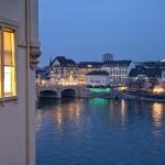 Vistas del Rhin a su paso por Basilea, Suiza