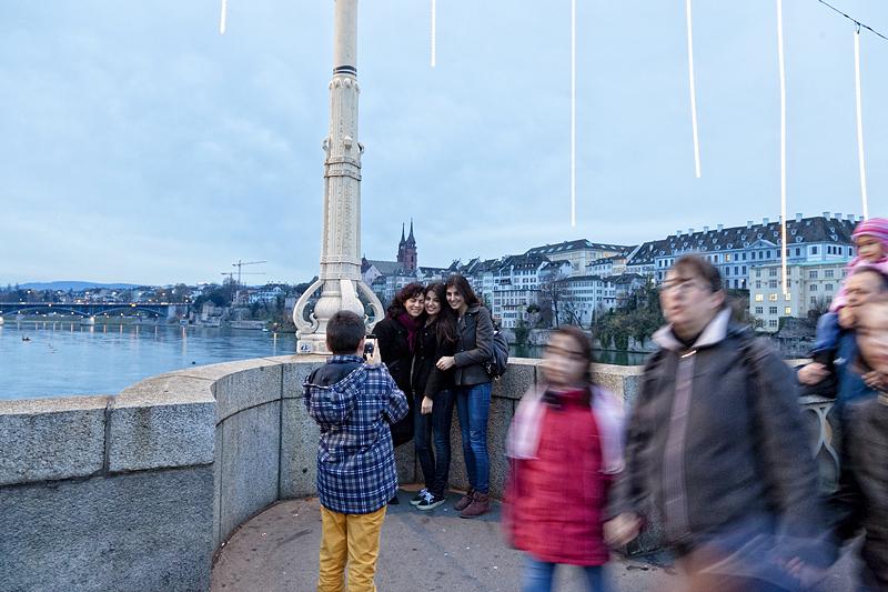 fotos en el puente de Basilea, Suiza, viajar a Basilea