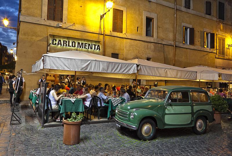 barrio del trastevere, roma, italia