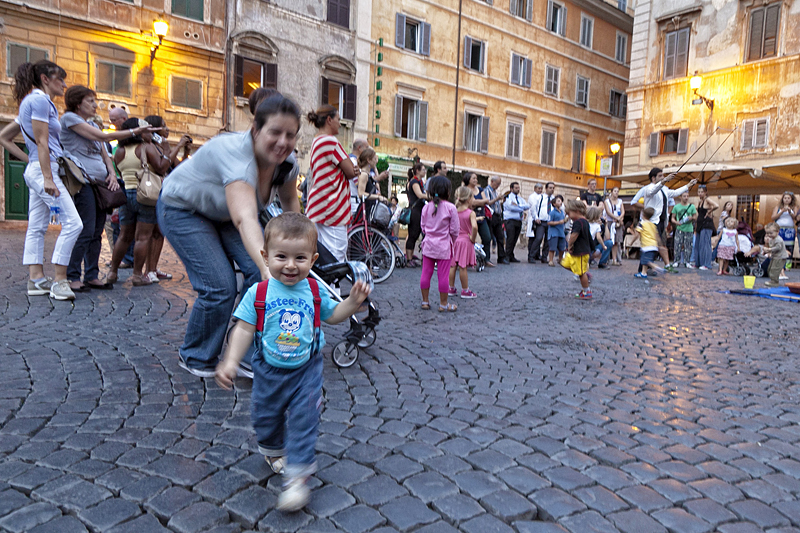 Roma, il trastevere, viaje en familia a Roma