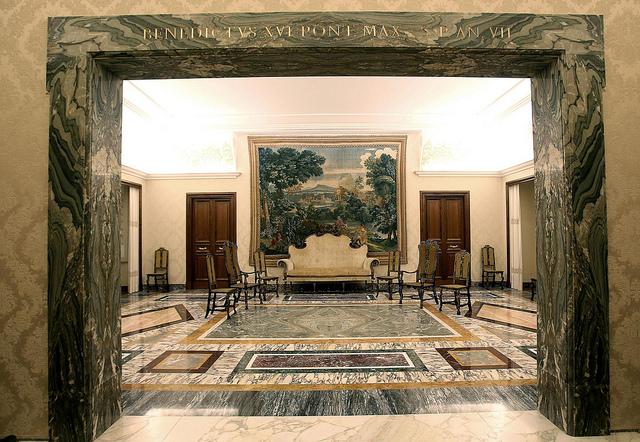Interior Palacio Castel Gandolfo, Papa Benedicto XVI