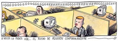 Liniers sobre conformismo, macanudo, humor gráfico