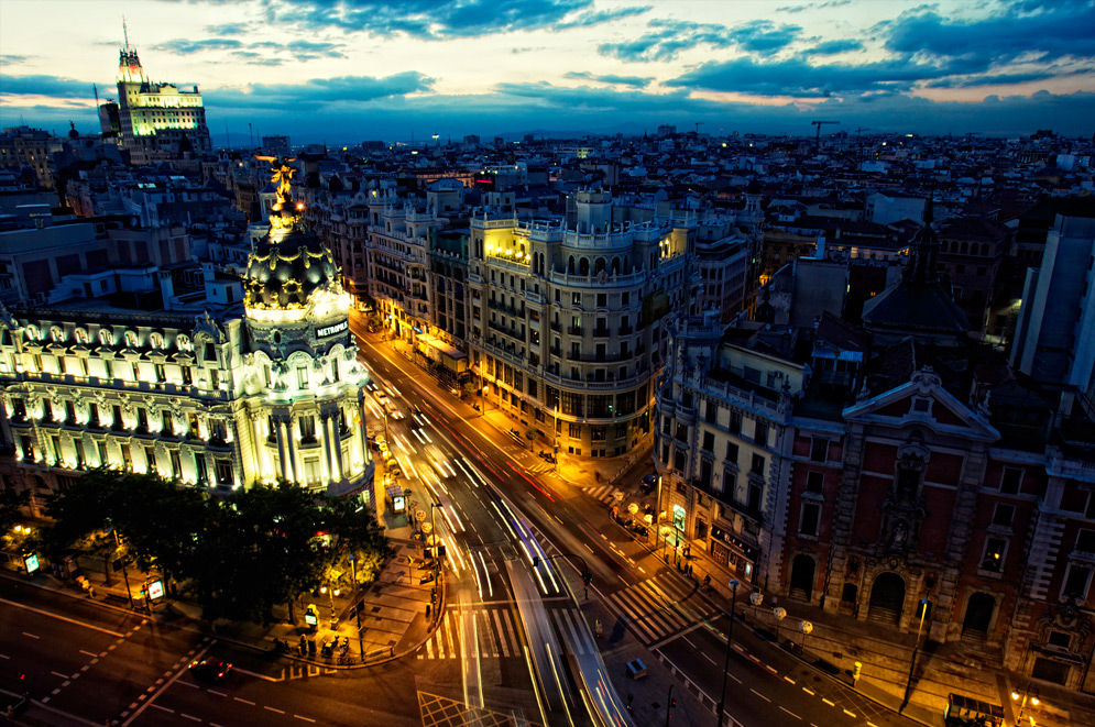 Gran Via, Madrid, Noche, pubs en madrid