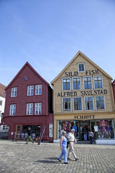 Barrio de Bryggen en Bergen, Noruega, Norway, Bergen